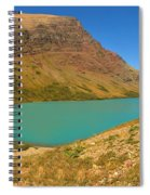 Cracker Lake Many Glacier Panorama Spiral Notebook