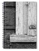 Cracks Of Time Bw  Spiral Notebook