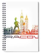 Cracow City Skyline Color Spiral Notebook