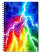 Rainbow Color Lightning Spiral Notebook