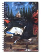 Crane And Horseman Spiral Notebook