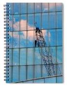 Crane Reflection - Atlantic City Spiral Notebook