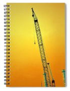 Crane With Towers Spiral Notebook