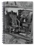 Crank Wood Bw Spiral Notebook