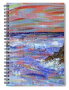 Crashing Of The Waves Spiral Notebook