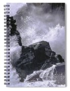 Crashing Wave At Quoddy Spiral Notebook