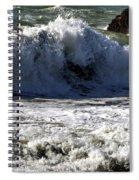 Crashing Waves At Goat Rock Spiral Notebook