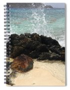 Crashing Waves At Sugar Beach Spiral Notebook