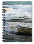 Crashing Waves On Sea Rocks Spiral Notebook