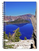 Crater Lake And Wizard Island Spiral Notebook