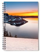 Crater Lake Dawn Spiral Notebook