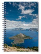 Crater Lake From Watchman Overlook Spiral Notebook