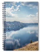 Crater Lake With A View Of The Phantom Ship Spiral Notebook