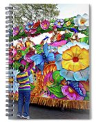 Craving Mardi Gras Beads - Tiptoe Pleading Technique - Vignette Spiral Notebook