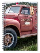 Crawford Fire Truck  Spiral Notebook