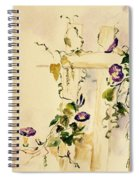 Crawling Flowers Spiral Notebook