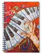 Crazy Fingers - Piano Keyboard  Spiral Notebook