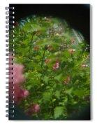 Crazy Floral Three  Spiral Notebook