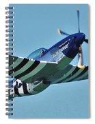 Crazy Horse From Air Show Spiral Notebook