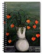 Crazy Red Flowers Spiral Notebook