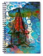 Crazy Red House In The Clouds Whimsy Spiral Notebook