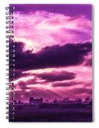 Crazy Sunset  Spiral Notebook
