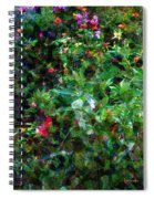 Crazyquilt Garden Spiral Notebook