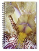 Cream And Purple Iris Spiral Notebook
