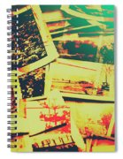 Creative Retro Film Photography Background Spiral Notebook