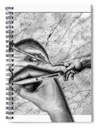 Creators Hand At Work Spiral Notebook