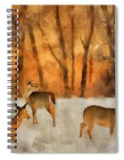 Creatures Of A Winter Sunset Spiral Notebook