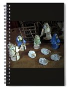 Creche Shepards And Sheep Spiral Notebook