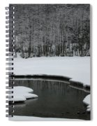 Creek In Snowy Landscape Spiral Notebook