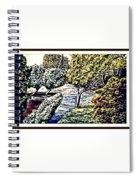 Creek In The Forest Framed Spiral Notebook