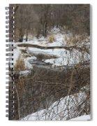 Creek Winding Through The Snow Spiral Notebook