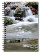 Creek With Rocks Spring Scene Spiral Notebook