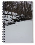 Creeks Battles The Snow And Cold To Remain Flowing. Spiral Notebook