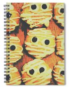 Creepy And Kooky Mummified Cookies  Spiral Notebook