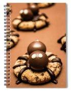 Creepy Crawly Spider Bites. Halloween Food Spiral Notebook