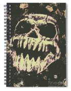 Creepy Face From Nightmares Past Spiral Notebook