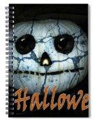 Creepy Halloween Pumpkin Spiral Notebook