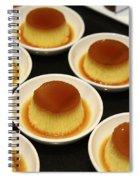 Creme Caramel Dessert Spiral Notebook