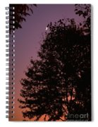 Crescent Moon And Tree Silhouette At Dusk Spiral Notebook