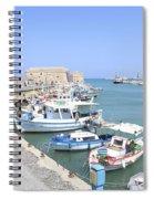 Crete Island Harbour  Spiral Notebook
