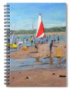 Cricket And Red And White Sail Spiral Notebook