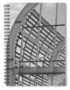 Cricket Stadium Architecture Black And White Spiral Notebook