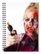 Criminal Zombie Pointing Revolver Spiral Notebook