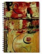 Crimson And Copper Spiral Notebook