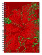 Crimson Hibiscus Spiral Notebook