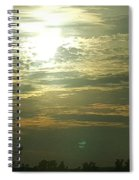 Crinkled Forehead Lines In The Sky Spiral Notebook